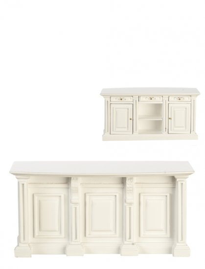 Kitchen Island White P5105 75 00 Miniature Cottage Dollhouse