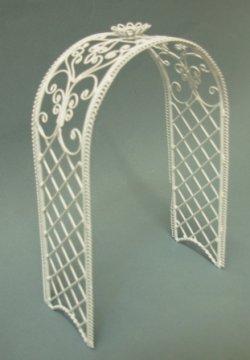 Trellis Arch White Metal Eiwf191 19 99 Miniature