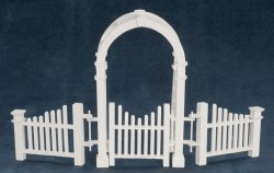 Arbor W Gate And Fence Azt5369 25 00 Miniature