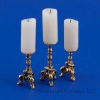 Dollhouse Miniature Metal Replica Candle Stick Mold MUL3804