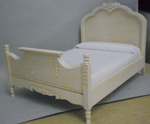 Unfinished Double Bed w Molding [CLA ] $20 20