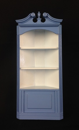 Two tone blue corner cabinet click to enlarge & Two tone blue corner cabinet [Mr. Bill 2] - $35.00 : Miniature ...