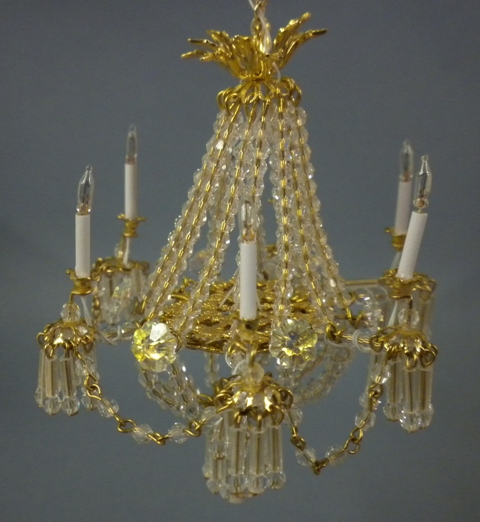 Serena chandelier with crystal chains p tucker serena with chains click to enlarge aloadofball Choice Image